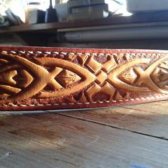 #leathergoods #leathercraft #custommade #handmade #leather #pitbull #boxer #leatherdogcollars #collars