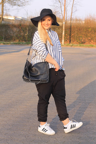 adidas-superstar-outfit-trend-sneaker-look-style-spring-hut-hm-newyorker-tasche-chino-hose-asos