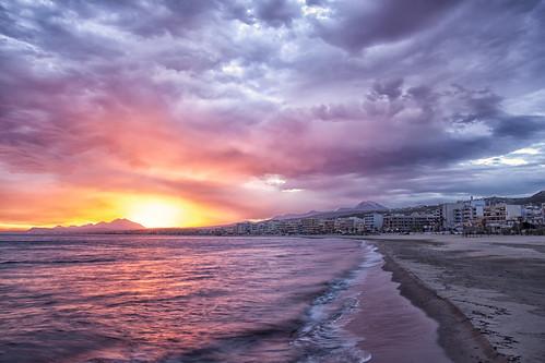 sea sky reflection beach clouds sunrise crete rethymno κρήτη παραλία σύννεφα θάλασσα ανατολή αντανάκλαση ρέθυμνο ουρανόσ