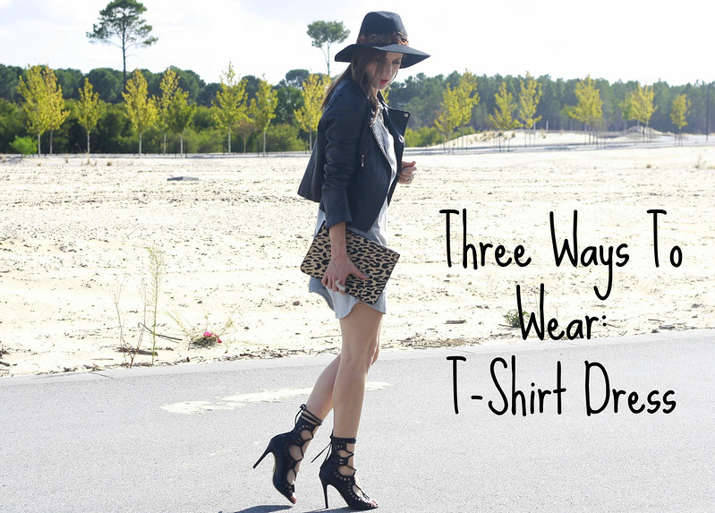 Three ways to wear a t-shirt dress
