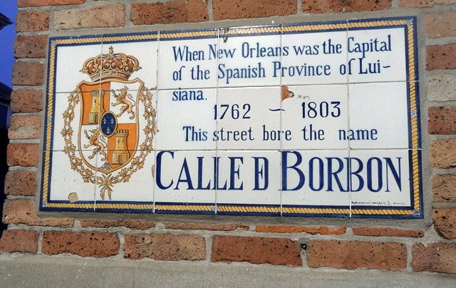 calle-borbon-sign bourbon street during the day