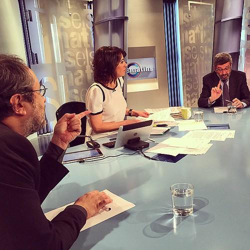 Amb Antonio Baños, Joan B. Culla i Lídia Heredia a Els matins de TV3 #barcelona #catalunya #catalonia #santjoandespi #igmataro #igerscalella #igersmaresme #igersbarcelona #igerscatalunya