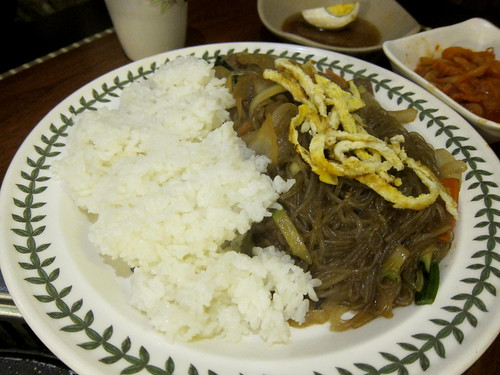 Japchae and Rice