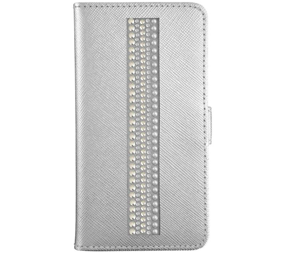 Swarovski crystal phone cases in silver