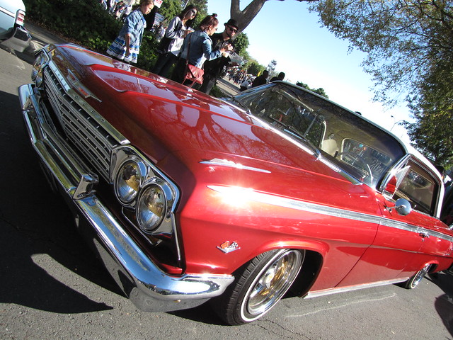 Red Old School Car