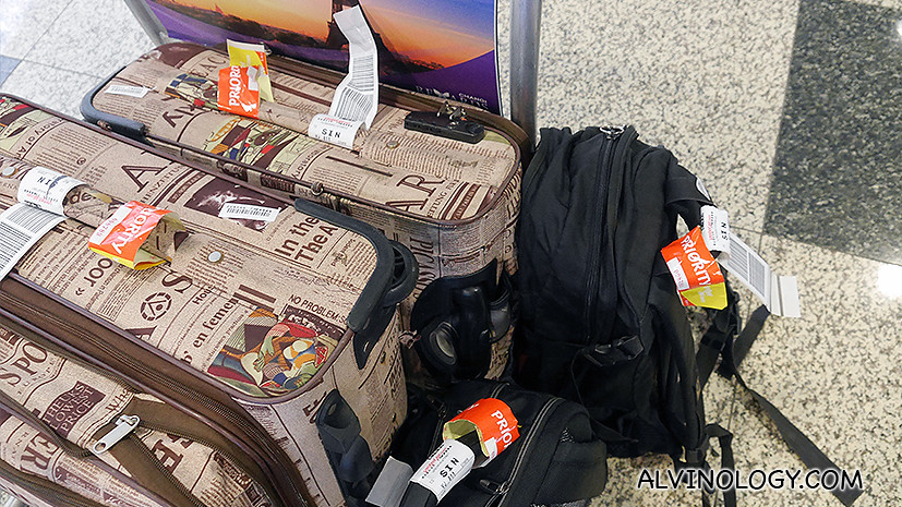 We always get our luggages first on priority