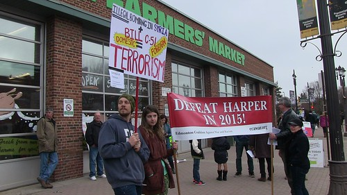 Info Picket on Bill C-51 and Syria