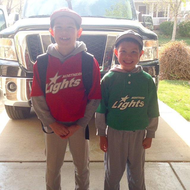 Two baseball games tonight at different fields. Wish I could go to both games. #NLLL #TheyLookLikeChristmas