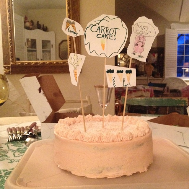 Our gluten free-vegan carrot cake with Reno's decorations! #vegan