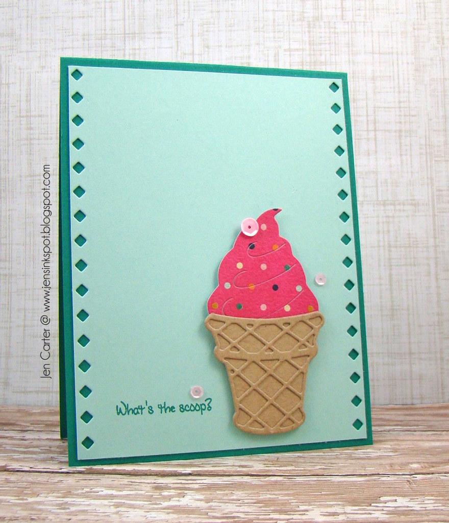 Jen Carter Ice Cream Cone Frantic Scoop