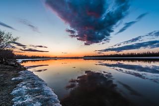 Tanana River Sunrise, Fairbanks, Alaska, April 26, 2015
