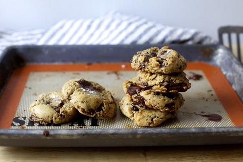 Salted chocolate chunk cookies smitten kitchen for Smitten kitchen chocolate chip cookies