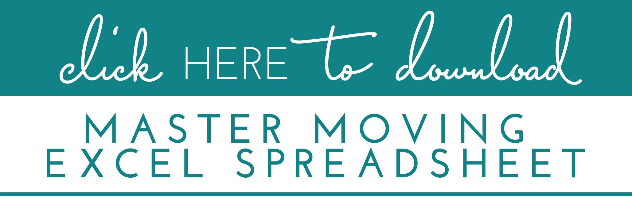 Master Moving Spreadsheet