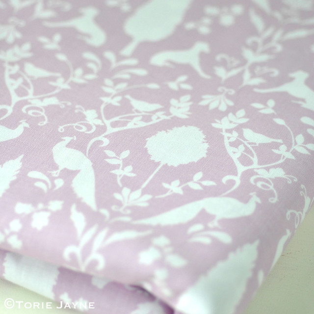 Peacock Hill Fabric in Pastel Violet