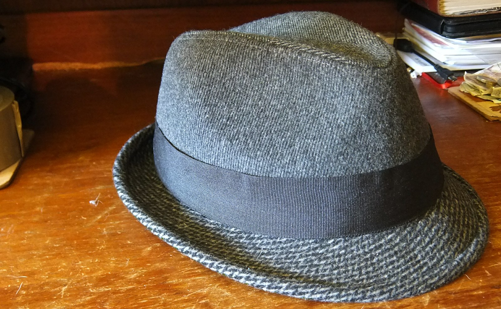 trilby marks spencer felt grey wool