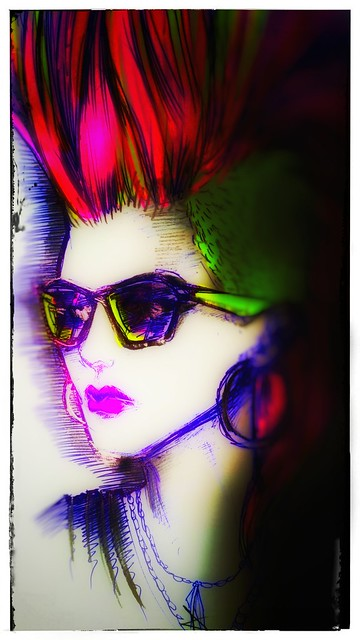 Deluxe She Looks / 1986 + 30 / bic pen + highlighters + snapseed / d