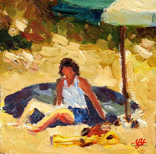 Ohne Titel (Am Strand)