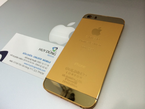 Mẫu vỏ 2013 và 2014 GOLD 5s vàng