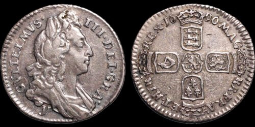 Davisson Lot 76 William II 1696 sixpense