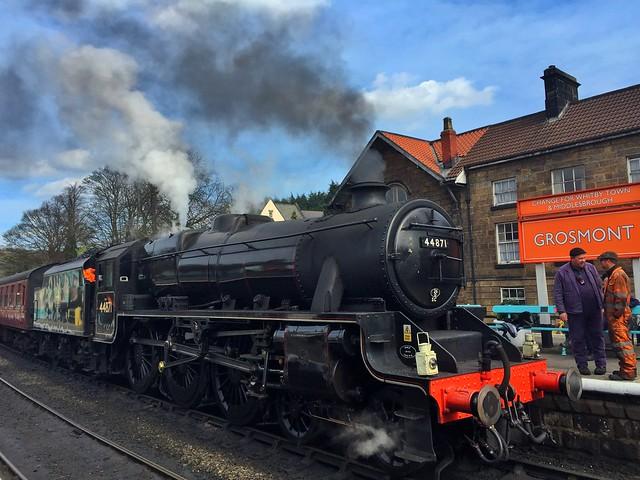 Tren de vapor de Whitby a Pickering (Yorkshire, Inglaterra)