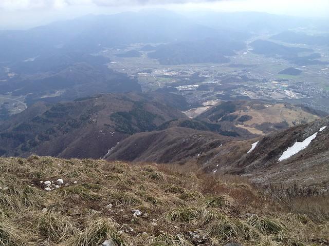 伊吹山 山頂 表登山道方面の眺望