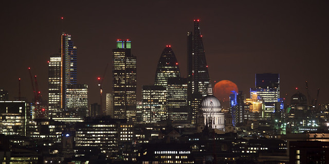Red moon over St Paul's