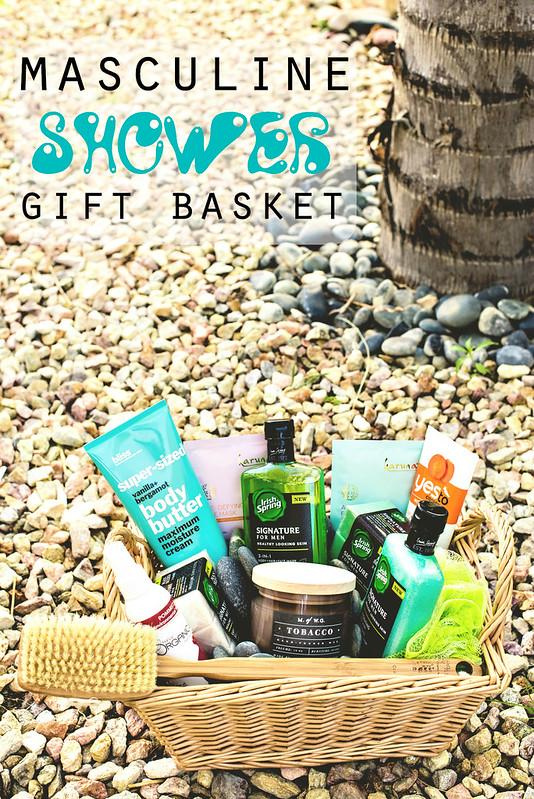 #MySignatureMove masculine shower gift basket