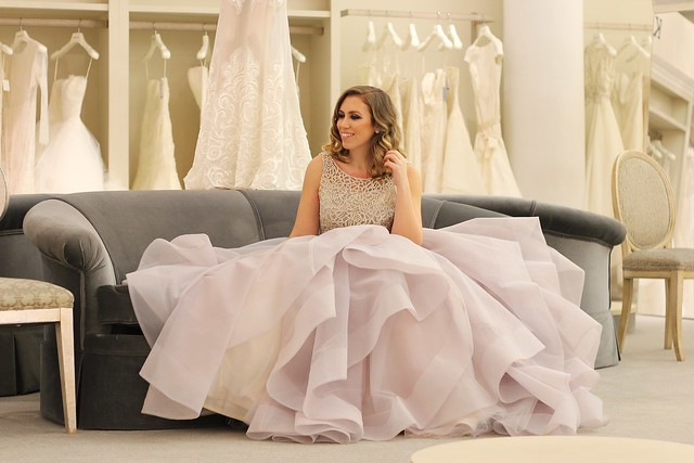Cinderella Moment with Kleinfeld Bridal | Hayley Paige Gown | #LivingAfterMIdnite