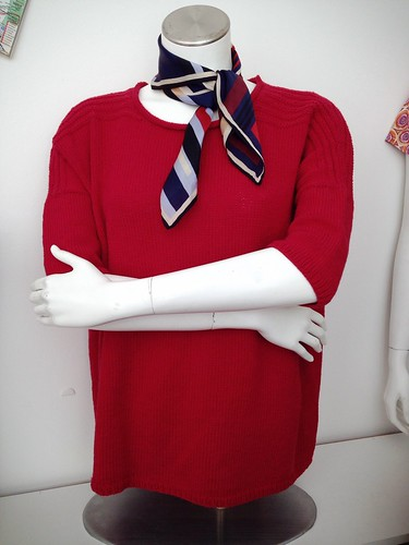 A Red Statement Sweater
