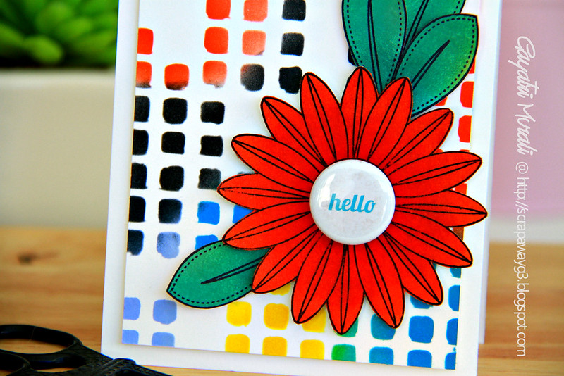 Hello card closeup
