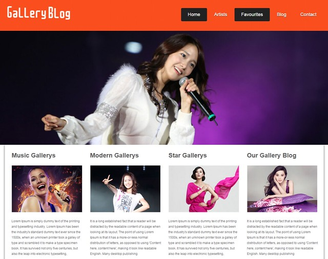 The Free Gallery-Blog Website Template Home w3layouts