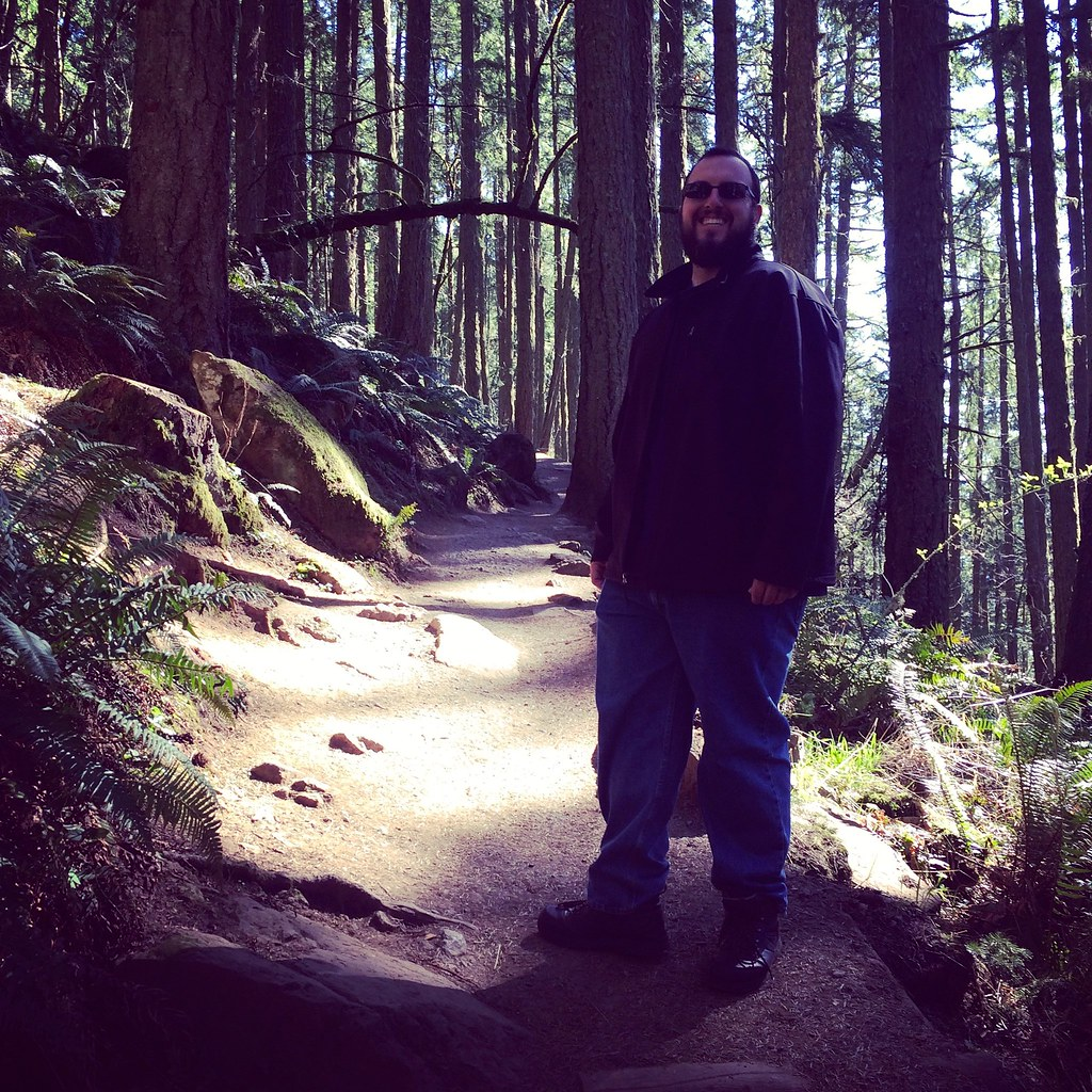 John on the Spencer's Butte trail
