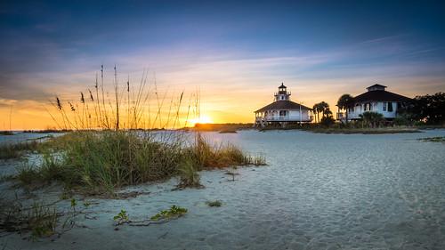 statepark sunset vacation lighthouse beach water sand florida bocagrande gasparillaisland