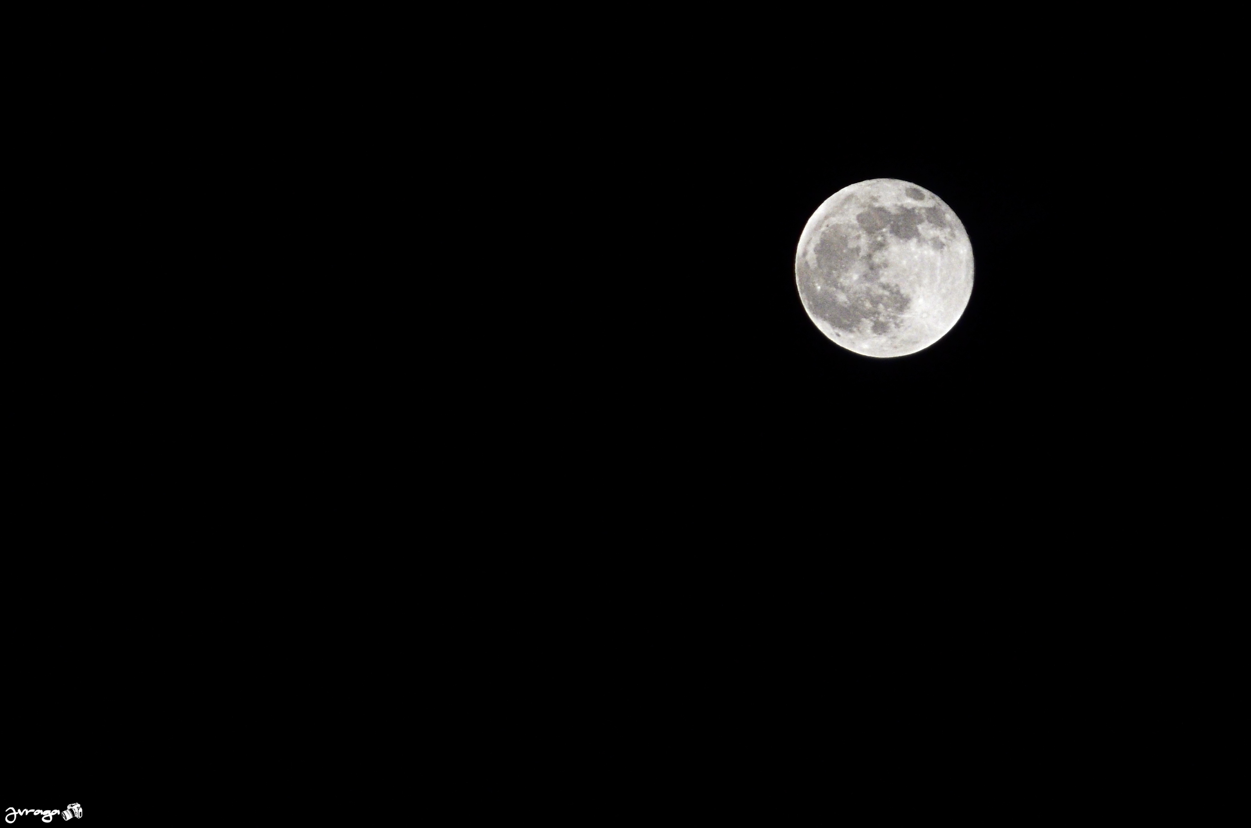 Luna llena desde El desert de les Palmes