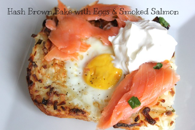 Hash Brown Bake with Eggs & Smoked Salmon