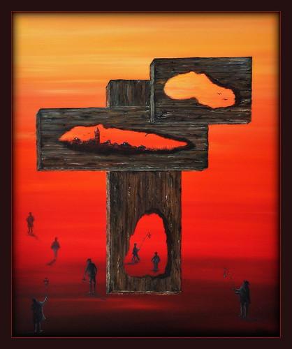 Los Caminos Secretos (Oil painting)