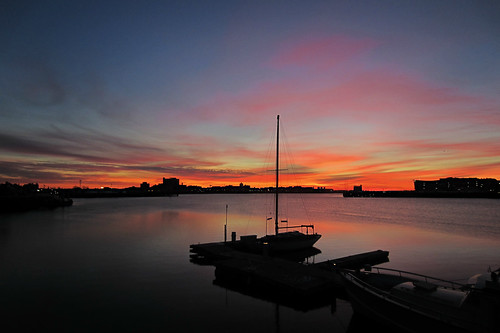 sky boston night sunrise canon massachusetts silhouettes charlestown elph 300hs ipiccy