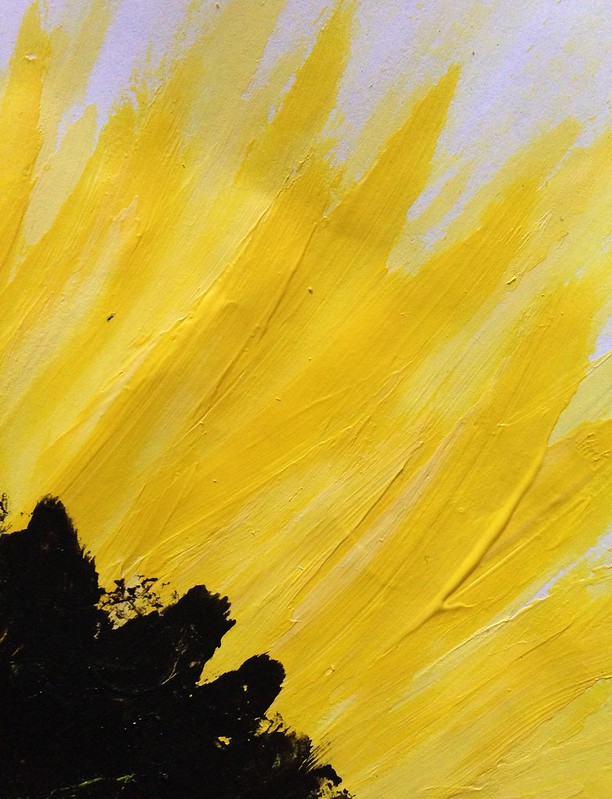 Fingerpaint fingerprint sunflower petals