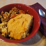 Maple Baked Beans and Cornbread Casserole