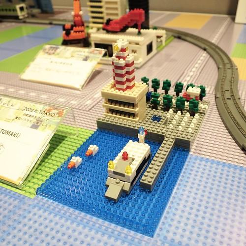 オレの作品も、展示してもらったー。東京ソラマチで、ナノブロックのイベント、来週4月23日まで。