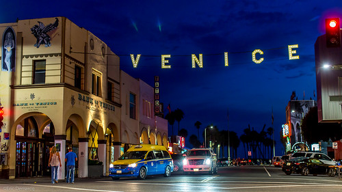 Venice Sign by Night