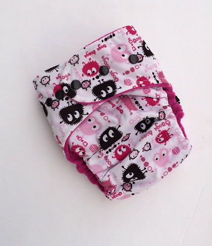 Bumstoppers One Size Ai2 Pink Ooga  Cotton Velour