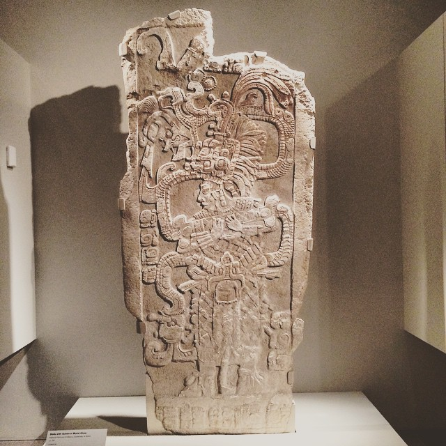 Stela with Queen Ix Mutal Ahaw #limestone #deYoungmuseum #goldengatepark #wanderentes #travelingjourno #sanfrancisco