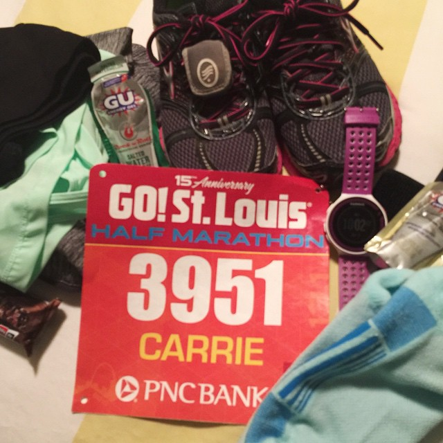 I can do this!!! Half marathon #7⃣ !! Got all my stuff laid out and will be rushing around tomorrow morning to get out the door for this 7:00 a.m. race! Hope the salted watermelon gel is good! 🍉🍉🍉 deep breath!! Always get