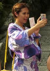 Smile!! Kyomizu-dera (Buddhist Temple), Kyoto, Japan, July 2014