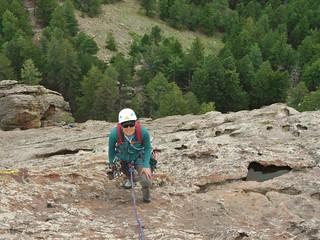 Jane Climbing Seal Rock