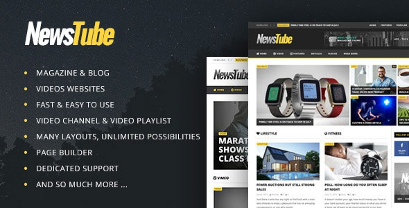 NewsTube v1.5.1.4 – Magazine Blog & Video