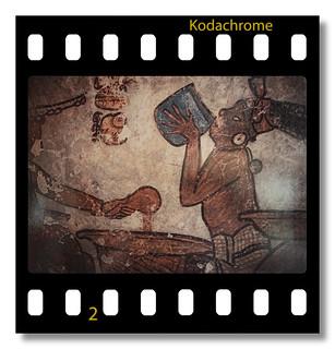 Calakmul MEX -  Painted Pyramid Wall painting 03