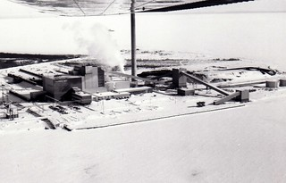 Thunder Bay Generating Station is snow covered on Feb. 15, 1971
