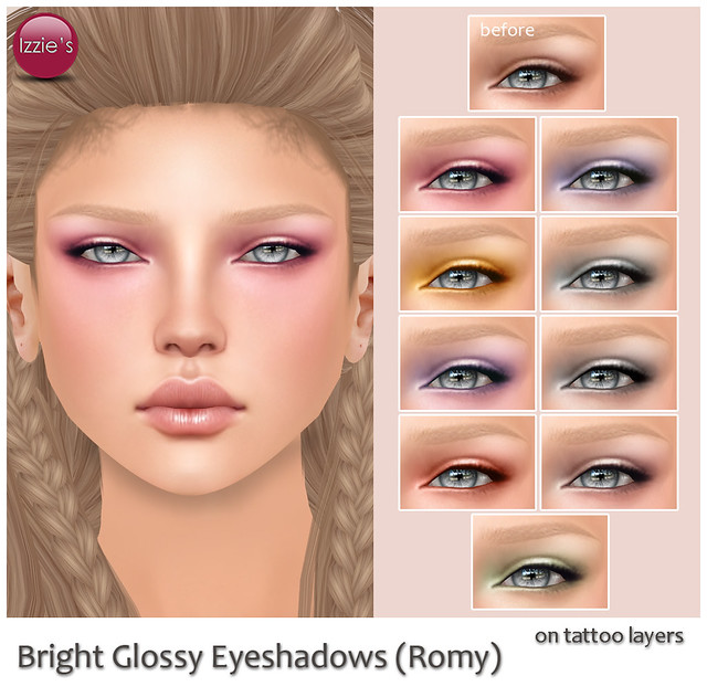 Bright Glossy Eyeshadows (for Skin Fair)